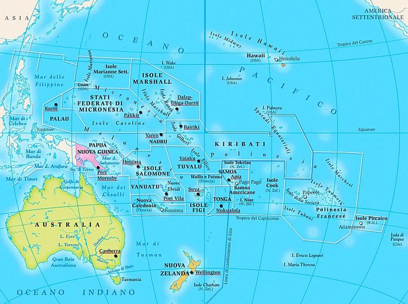 Zeiljachten te huur in de Stille Oceaan voor zeilvakanties vanuit Australie en Nieuw Zeeland