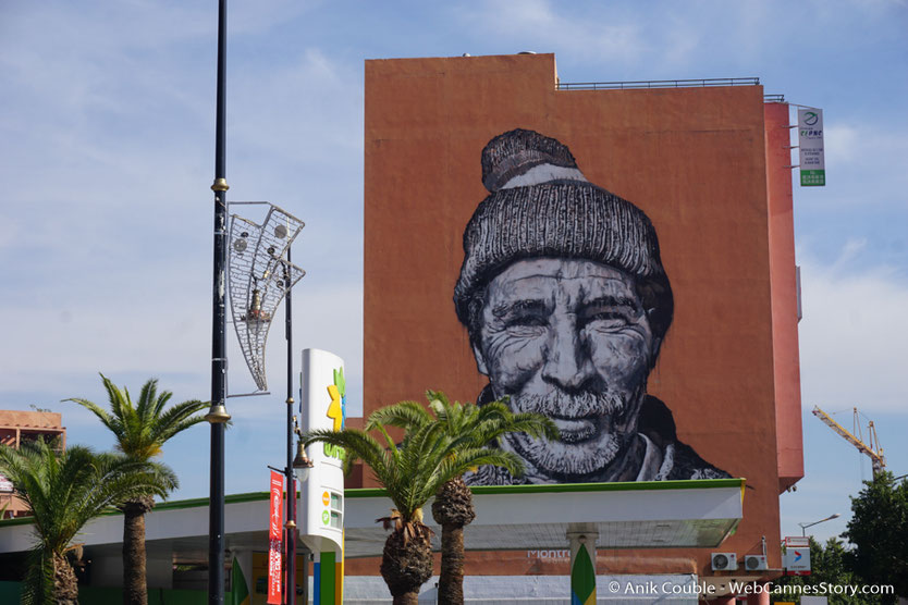 Fresque murale de Hendrik Beikirch - Festival de  Marrakech - Décembre 2016 - Photo © Anik Couble