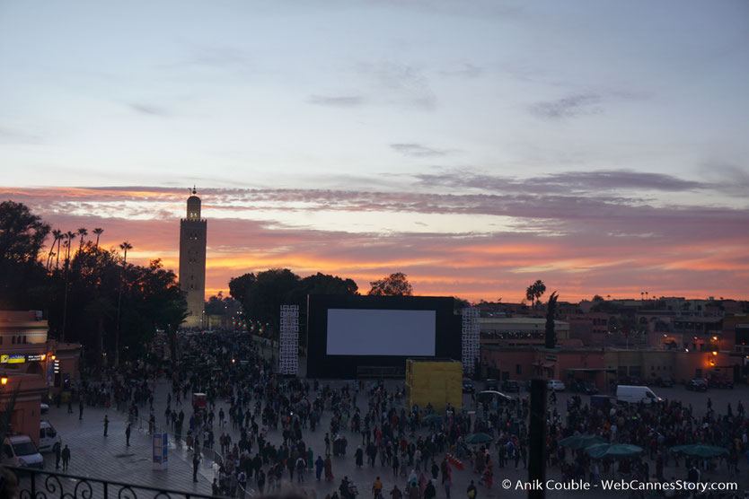 Place Jemaa El Fna - Festival de  Marrakech - Décembre 2016 - Photo © Anik Couble