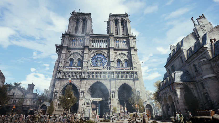 3D world of the church Notre Dame - Bild/ Source: Ubisoft.