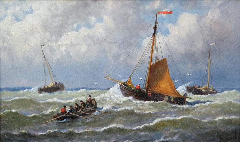 te_koop_aangeboden_een_marine_schilderij_van_de_nederlandse_kunstschilder_hendrik_hulk_1842-1937