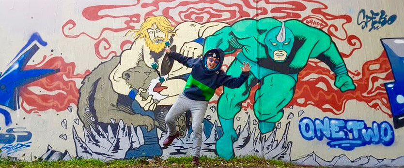 Graffiti, Streetfotografie, Streetwork, Artwork, Longboard, Skateboard, Snowskateboard