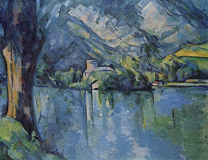 """Paul Cézanne, """"Lago di Annecy"""" (1896)"""