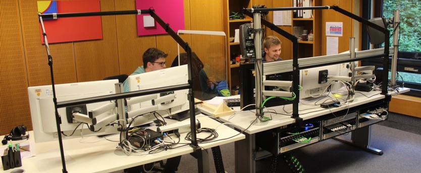 Ein Schnittplatz: Seit 2000 ist das Tübinger Studio offiziell Fernsehstudio. Bild: Johannes Thiede.