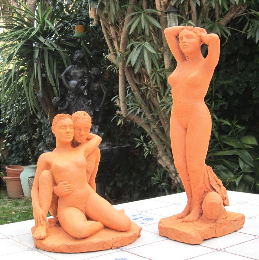 sculptures couple et femme nue debou.t nouveausculpteur.