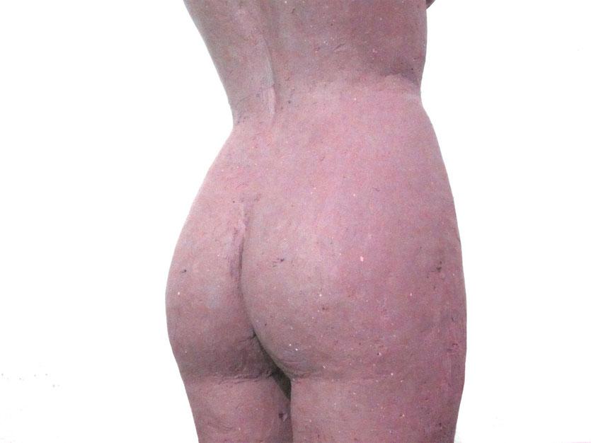 nouveausculpteur sculpture argile femme nue aphrodite sortant de l'eau (callipyge anadyomène)