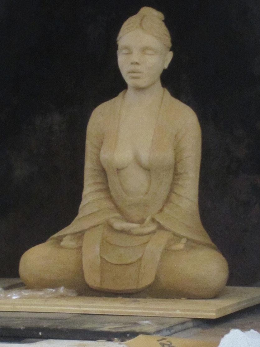 nouveausculpteur sculpture femme argile nu assis