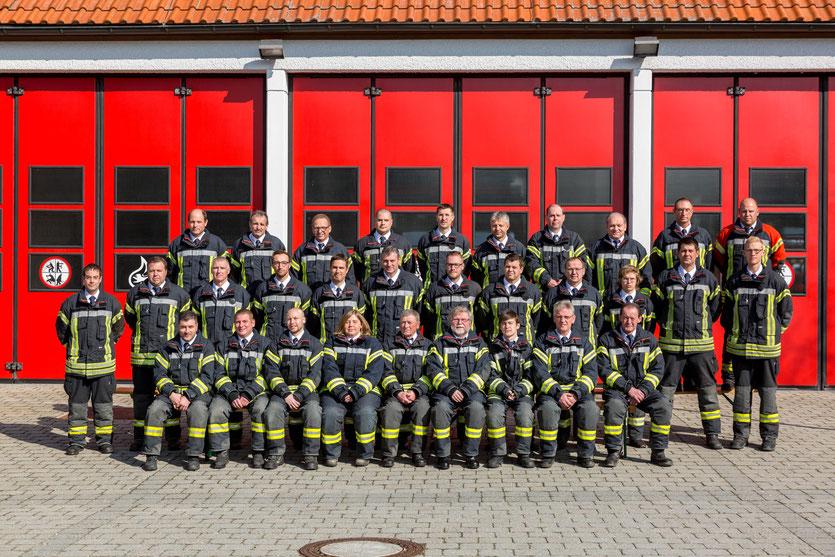 In Jungingen leisten derzeit 52 Männer und 2 Frauen aktiven Feuerwehrdienst.