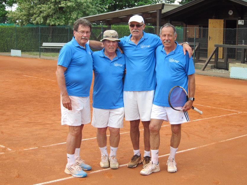 v.l. Karl-Heinz Knoblach, Josef Rebhan, Karl-Heinz Bernreuther, Martin Seuberth