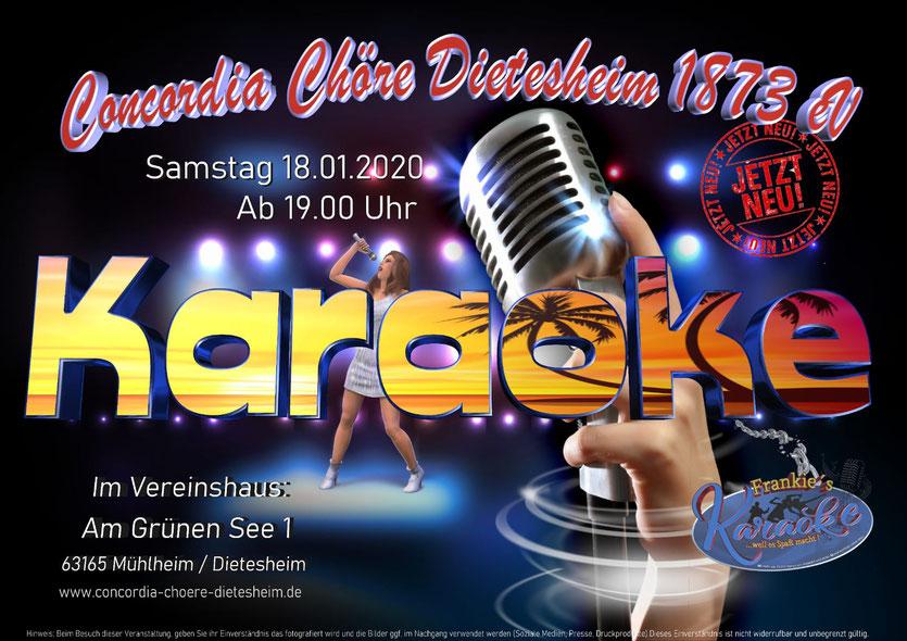 Karaoke mit Fränki Frankfurt Offenbach Mühlheim Dietesheim Concordia