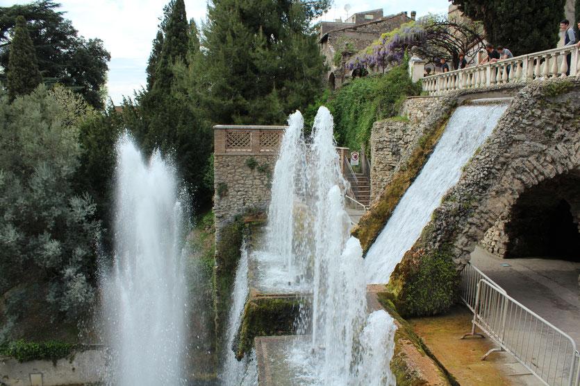 Das Spiel des Wassers (Villa d'Este, Tivoli)
