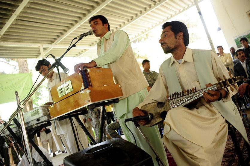 Afghanische Musiker in Farah