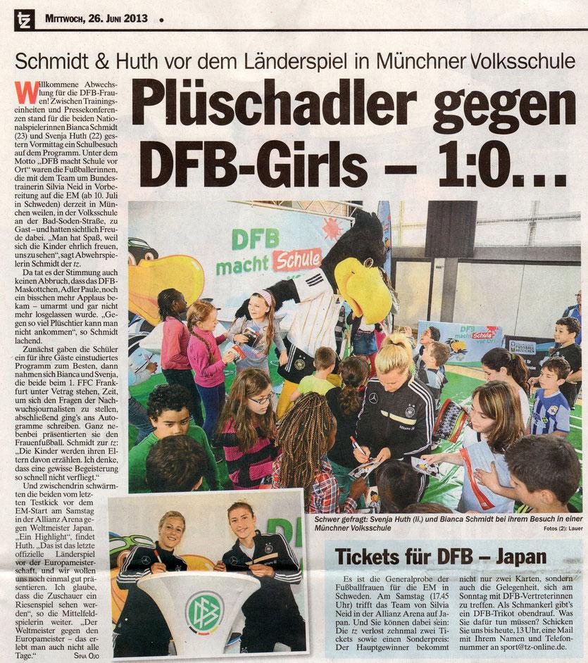 Bericht in der TZ München vom 26.06.2013