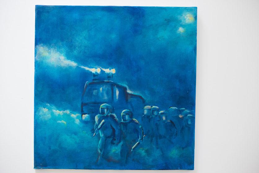 II  - Acryl auf Leinwand, 50x50cm (reserviert)