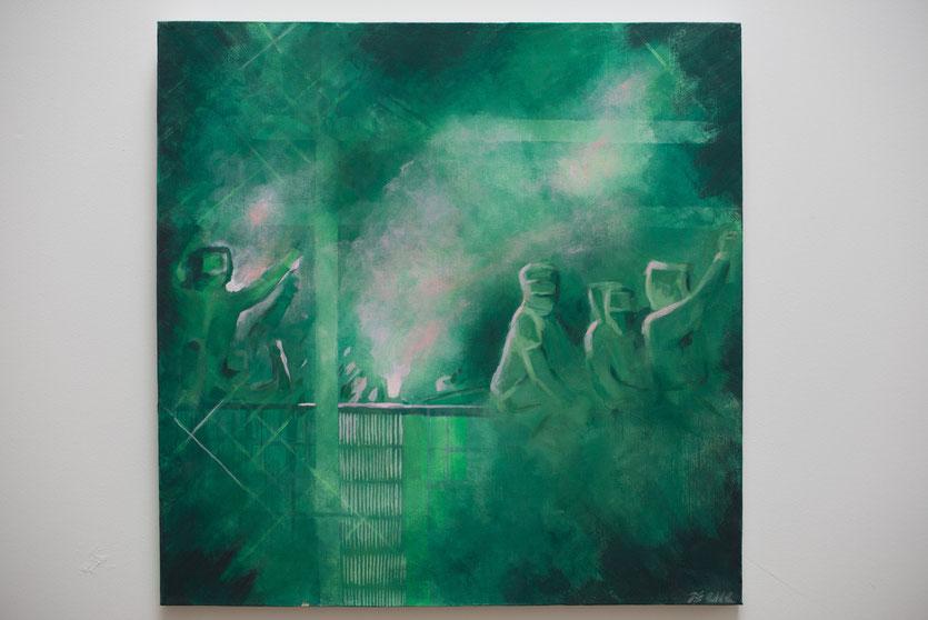 III  - Acryl auf Leinwand, 50x50cm ( 125 Euro)