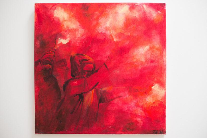 I  - Acryl auf Leinwand, 50x50cm (reserviert)
