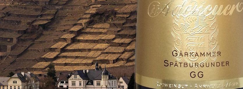 """Die weltweit kleinste Einzellage, die """"Walporzheimer Gärkammer"""", gehört alleine dem VDP Weingut Adeneuer"""