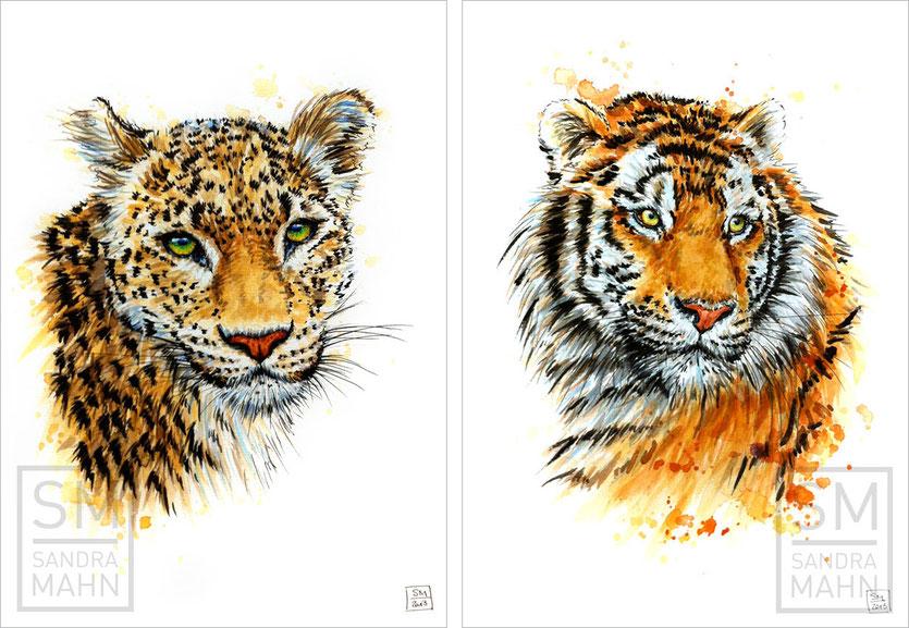 Leopard (verkauft) - Tiger (verkauft) | leopard (sold) - tiger (sold)