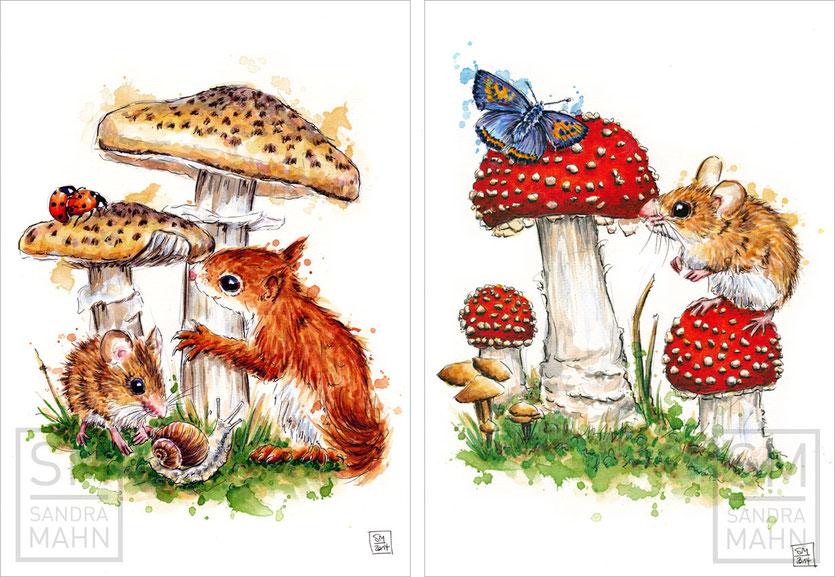 Maus & Eichhörnchen (verkauft) - Maus (verkauft) | mouse & red squirrel (sold) - mouse (sold)