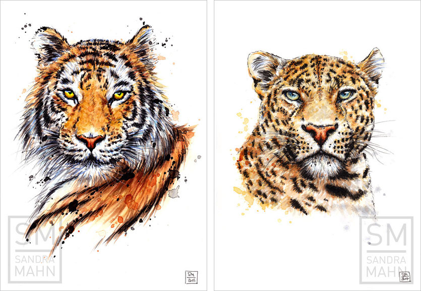 Tiger (verkauft) - Leopard (verkauft) | tiger (sold) - leopard (sold)