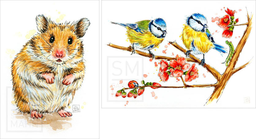 Hamster - Blaumeisen | hamster - blue tits