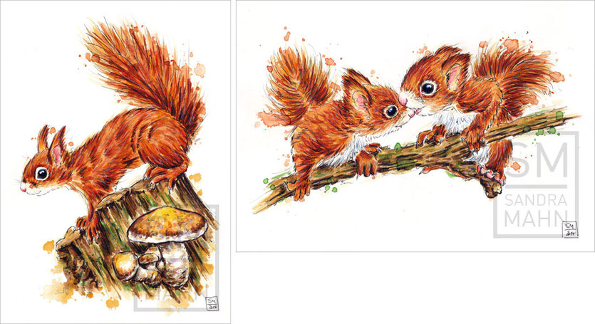 Eichhörnchen (verkauft) - 2 Eichhörnchen (verkauft) | red squirrel (sold) - 2 red squirrels (sold)