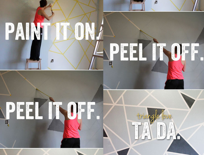 PASiNGA blog post DIY wall decor with tape and paint to triangle love