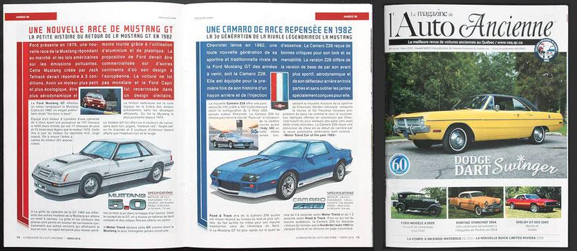 Article Camaro Z28 - Mustang GT 1982 VAQ mars 2018