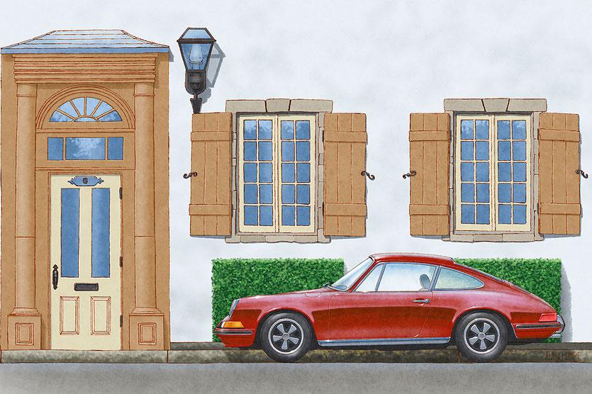 6 Cote du Palais, Quebec City, Porsche 911 1970