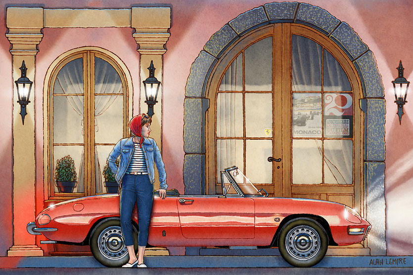 50 General Allard, St-Tropez, Alfa Romeo 105 Spider 1966