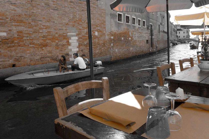 Venedig Cannaregio Restaurant am Wasser Paradiso Perduto