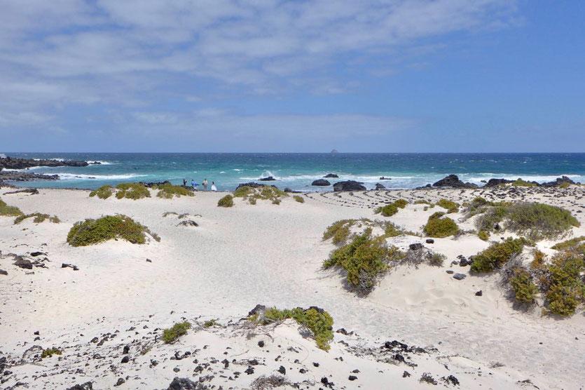 weiße Dünenstrände 'Caletones' Nordosten Lanzarote