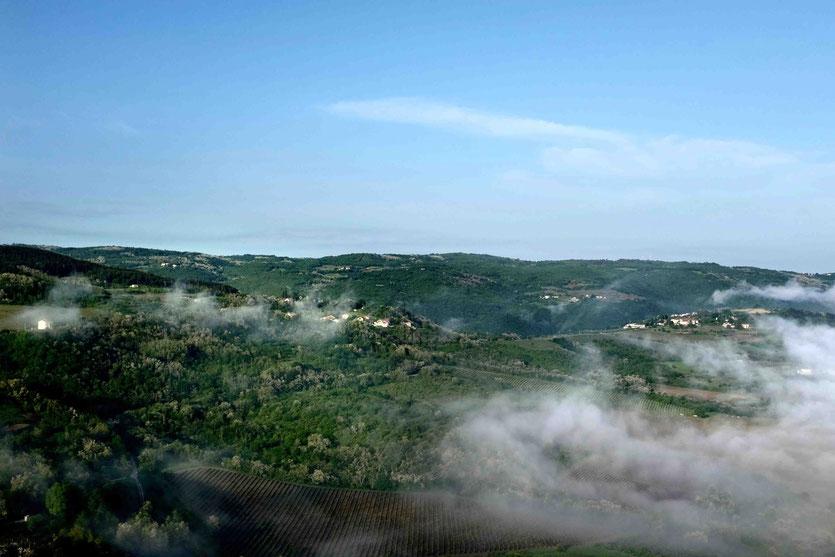 Istrien Ausflug aufs Land Berge