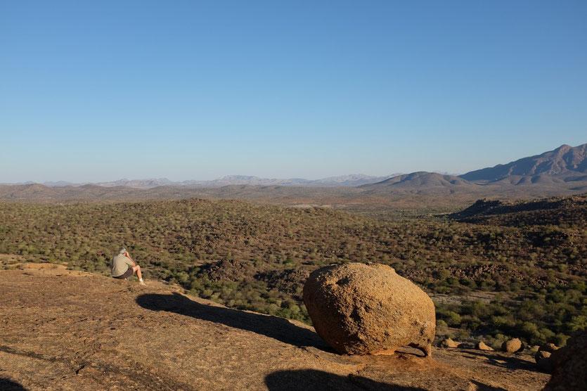 Aussicht vom Rücken des Elephant's Head, Ameib Ranch Namibia
