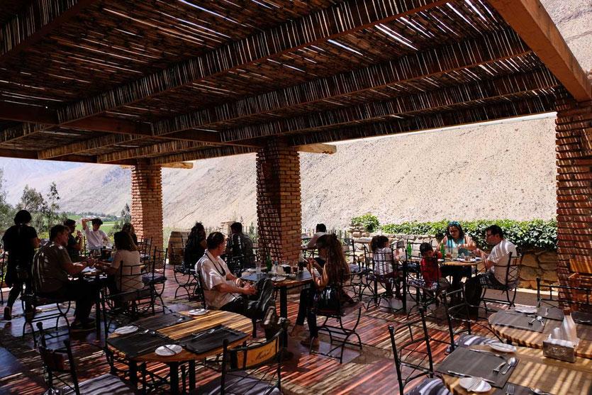 Terrasse Restaurant Hacienda Miraflores Pisco Elqui