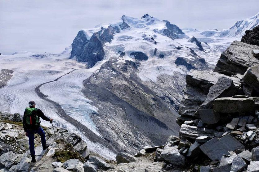 Zermatt Gornergrat – Blick auf den Monte Rosa