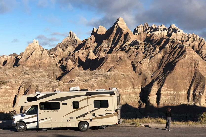 USA Badlands Nationalpark mit dem Wohnmobil