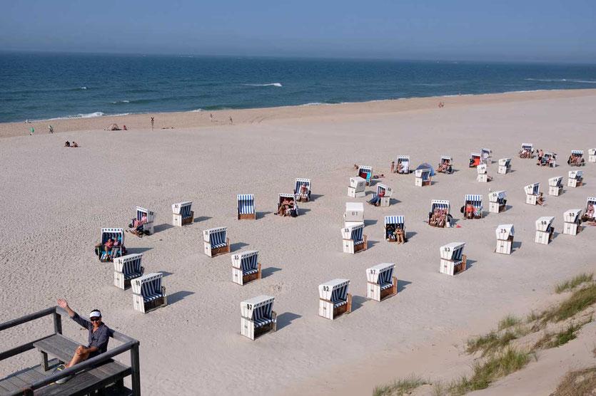Badestrände und Strandkörbe auf Sylt