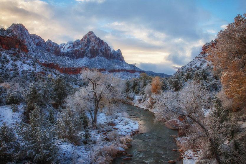 Auch schön, der Zion Park im Winter. Foto Credit: Utah Office of Toursim