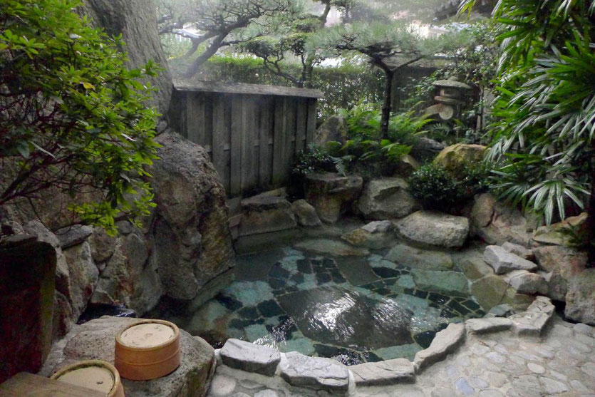 Japan Onsen Bad im Ryokan in Yunomine