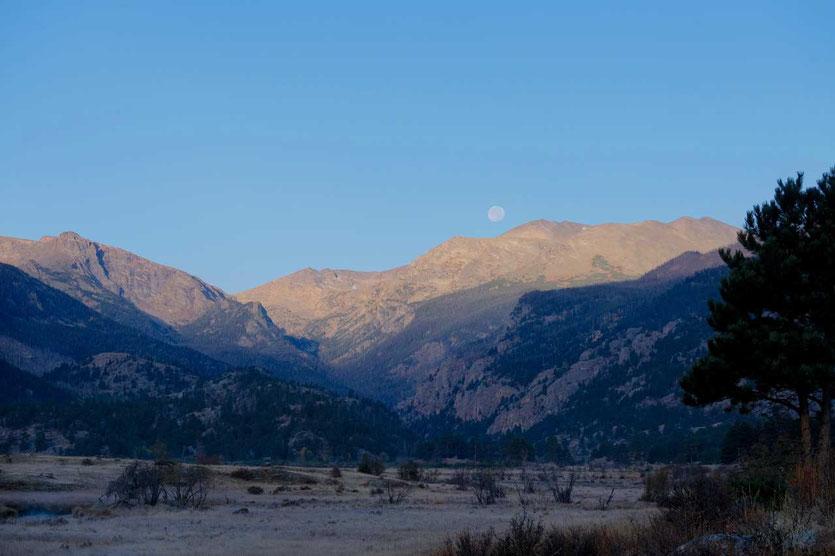 Sonnenaufgang überdem Moraine Park, Rocky Mountain