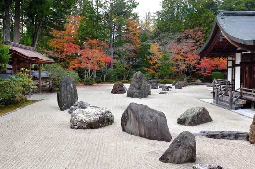 Koyasan schönster Steingarten im Tempel Kongobuji
