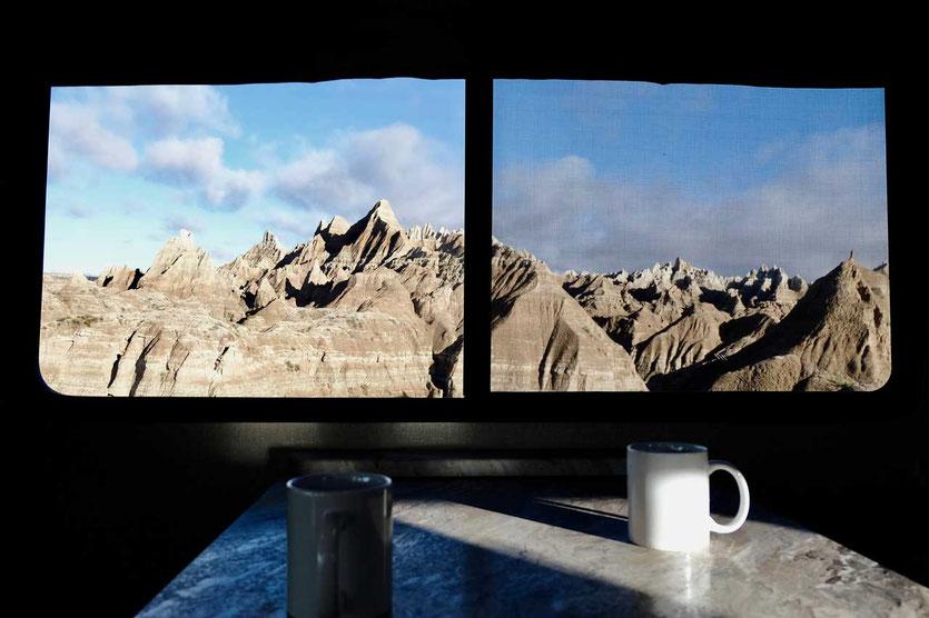 USA Badlands Nationalpark aus dem Wohnmobil