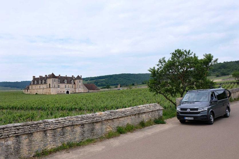 Burgund Château Clos de Vougeot Besichtigung