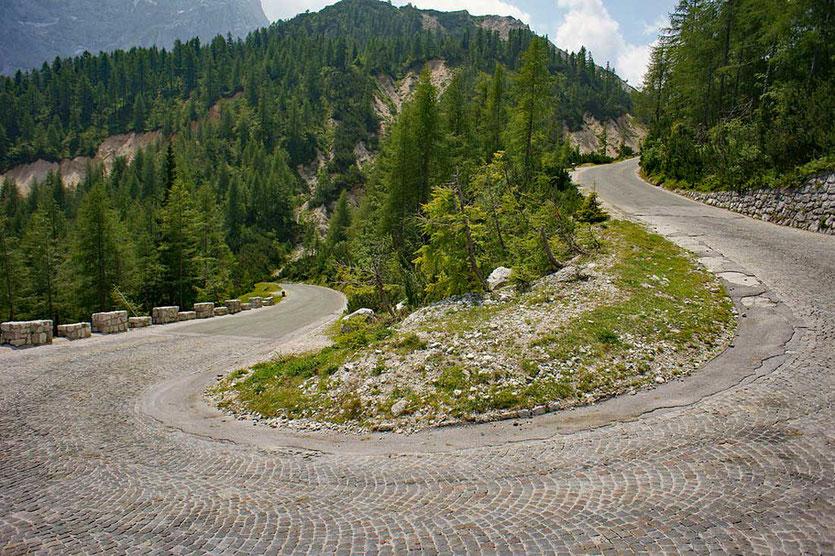Alpenstraße über den Vršič Pass Slowenien