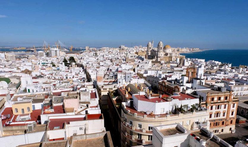 Ausblick Torre Tavira höchster Wachturm Cadiz