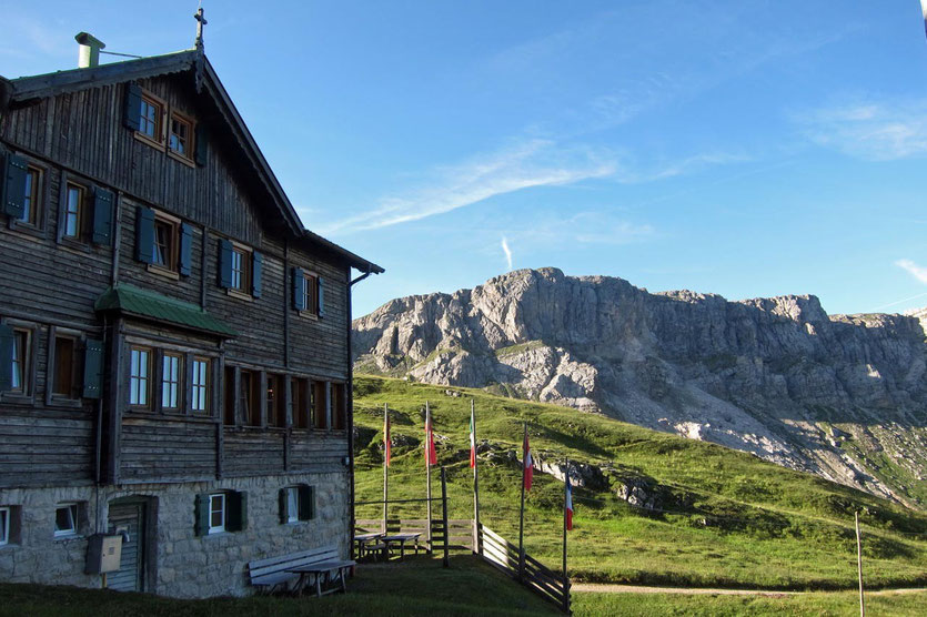 Die Schlüterhütte im Villnössertal, Südtirol