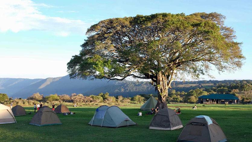 Camping mit Blick in den Ngorongoro Crater Tansania
