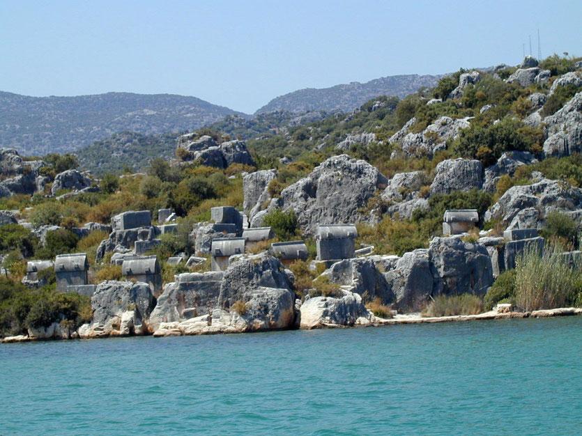 'Sunken City' bei Kekova Lykische Küste Türkei