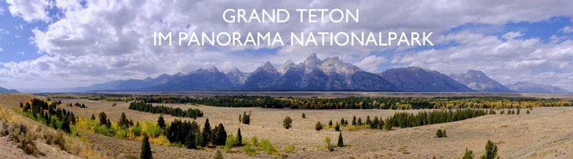 Panorama Grand Teton Nationalpark USA